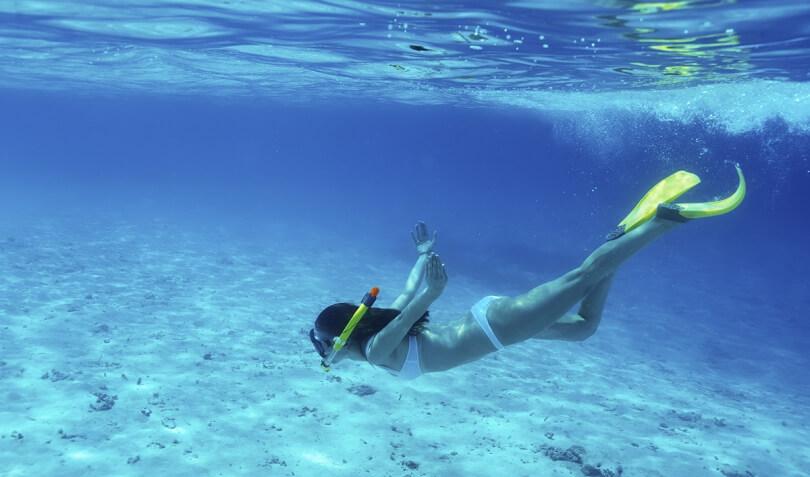 Tres deportes acuáticos para practicar en verano: snorkle